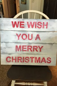 Barnwood Christmas Sign
