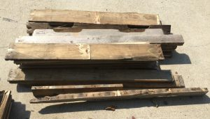 Disassembled pallets