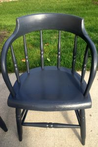 Gray Painted Chair