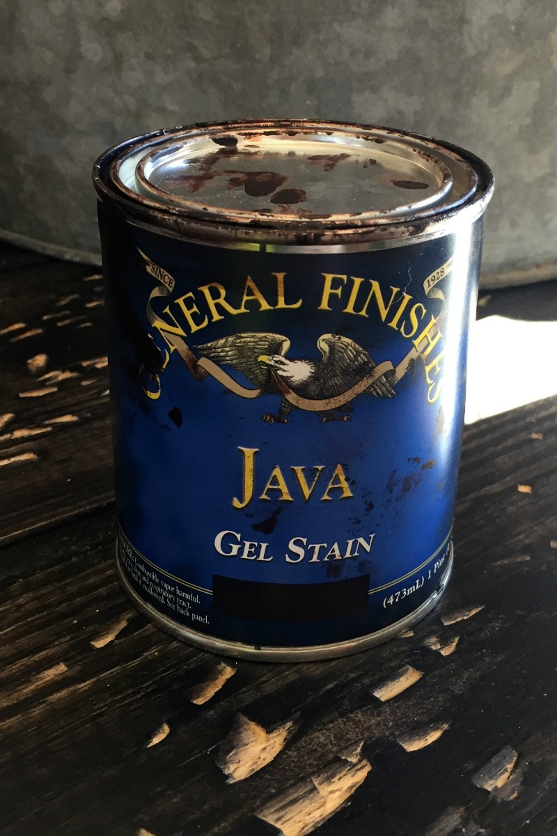 General Finishes java gel stain can