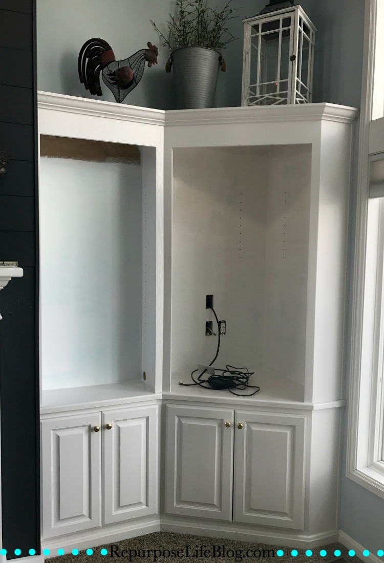 Built in cabinets a quick affordable way to update for Ready built cupboards