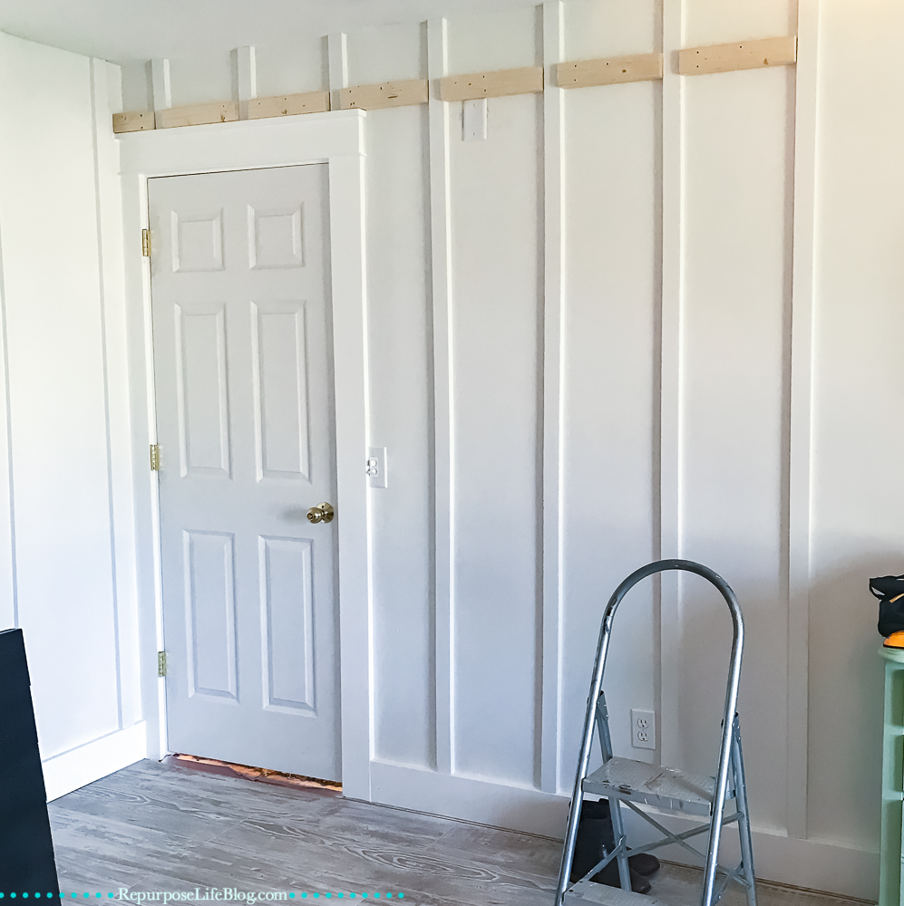 Length Of Door PLUS 1 3/4 Inch (to Allow Door Plenty Of Floor Clearance To  Slide Smoothly). Draw Another Leveled Horizontal Line.