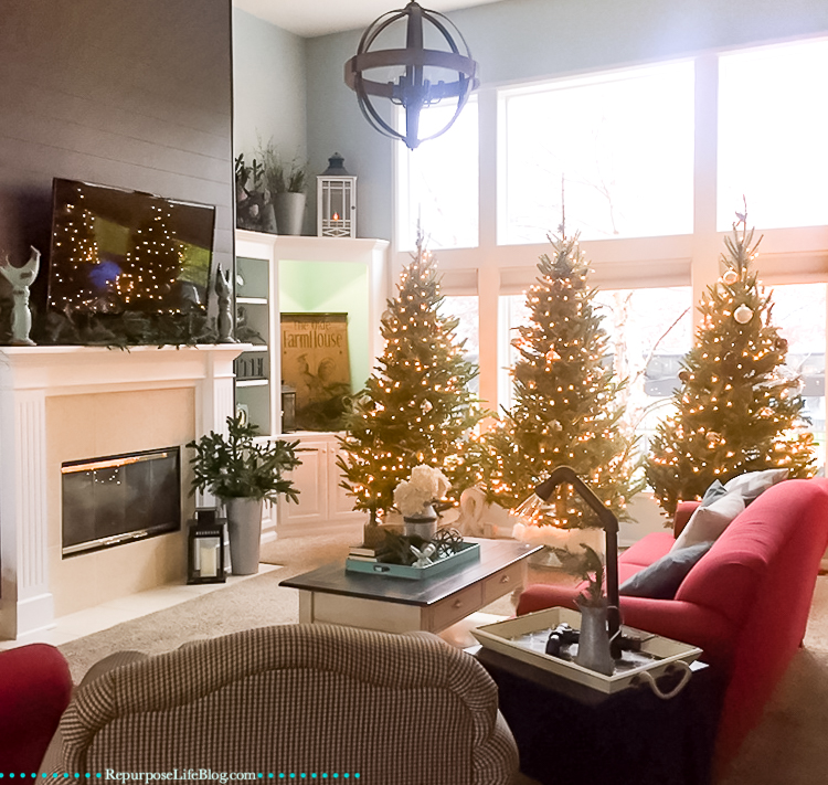 Not just one tree but three Christmas trees