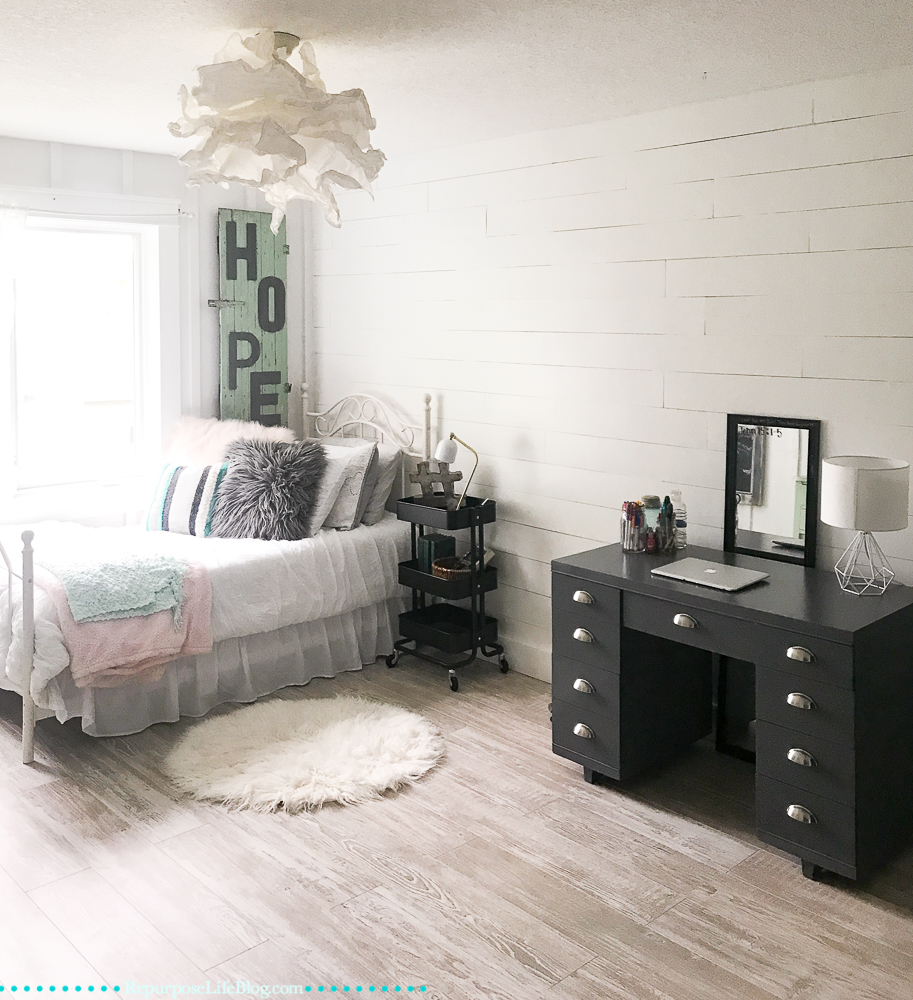 Modern Teen Bedroom Makeover-What to Tackle First - Repurpose Life