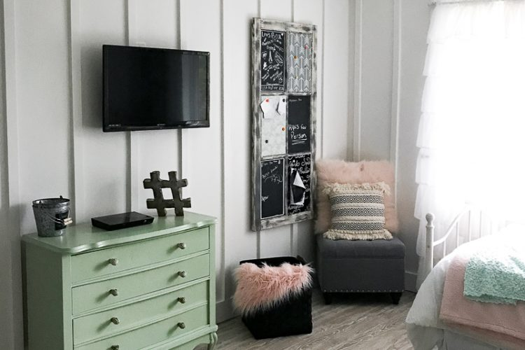 Modern Teen Bedroom Makeover–What to Tackle First