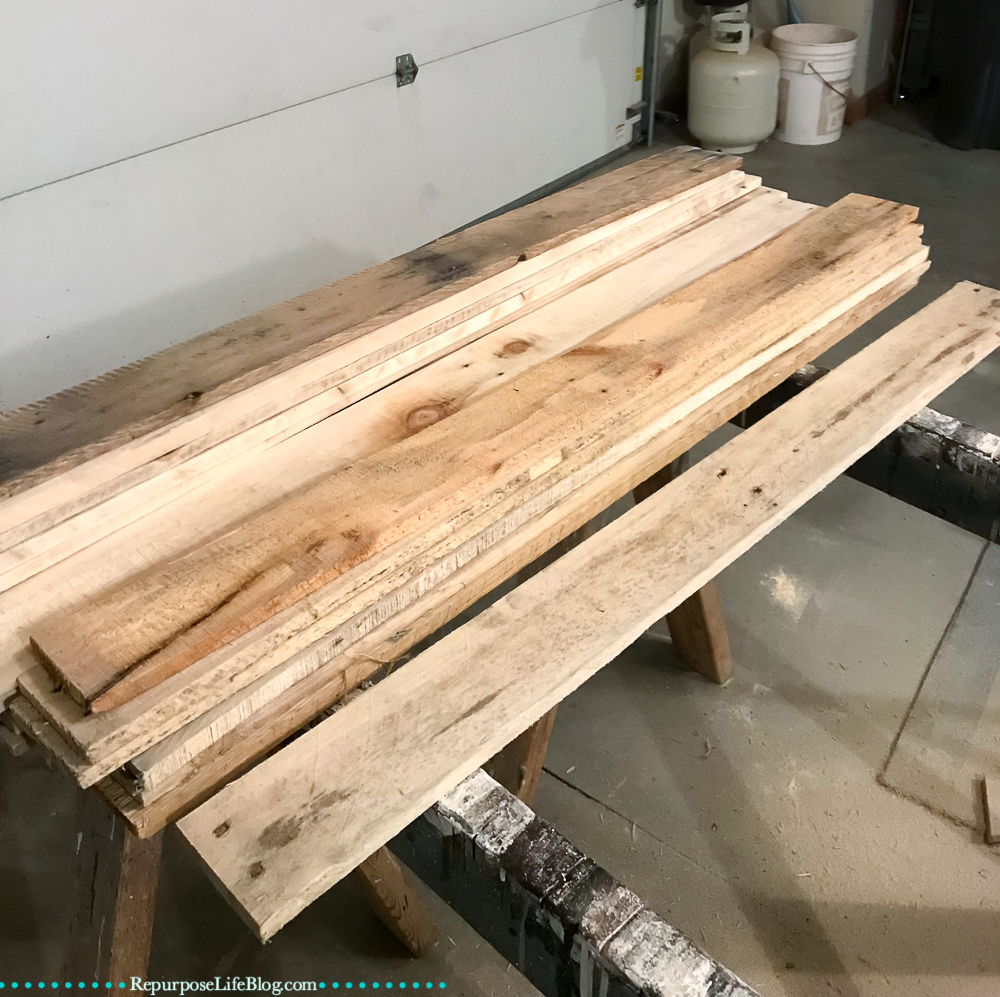 Pallet boards sanded and clean