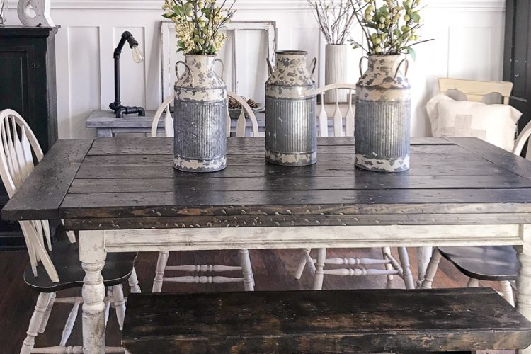 How to Give Your Dining Table a Farmhouse Table Makeover