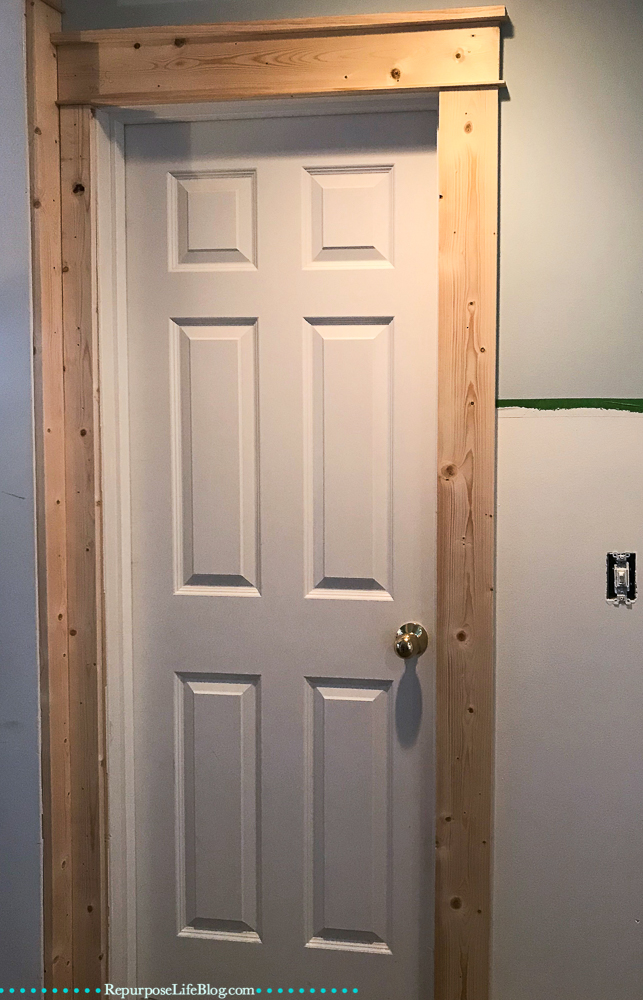 six panel door with craftsman trim