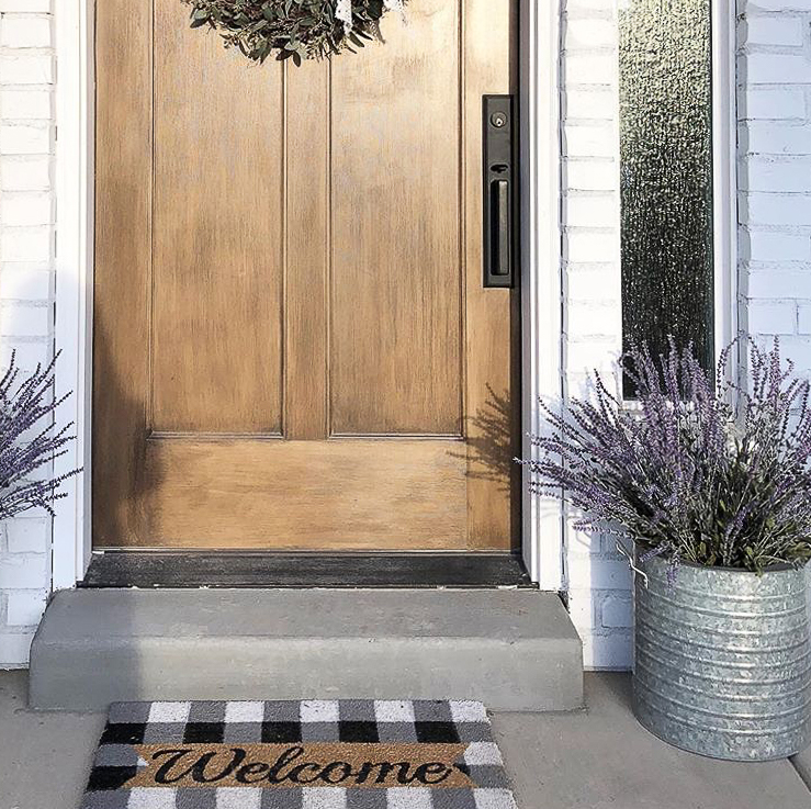 Gorgeous wooden front door