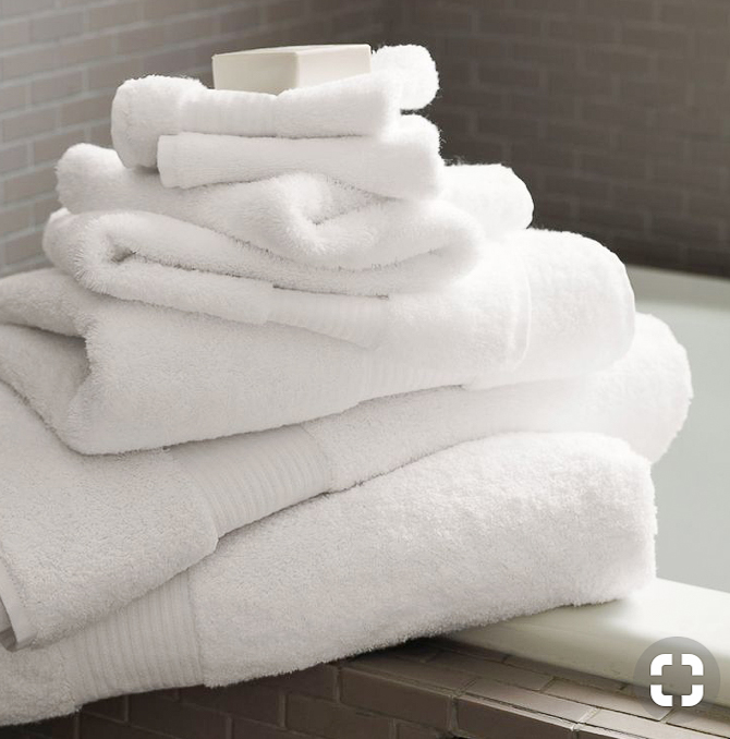 Hotel worthy white bath towels