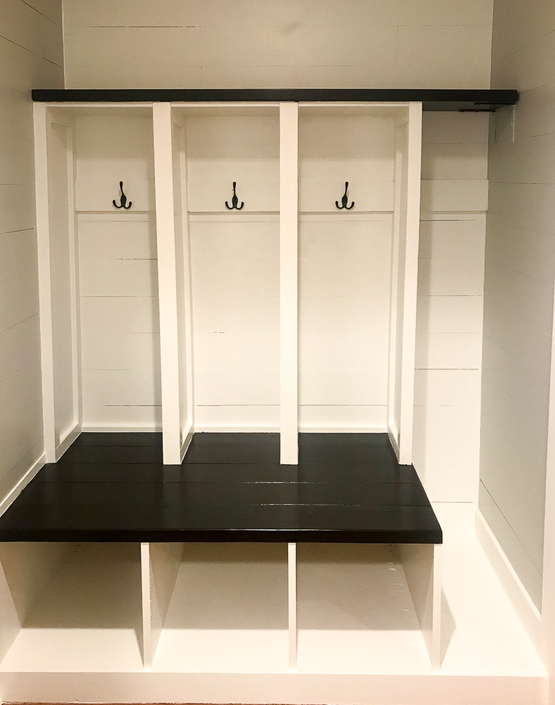lockers in a mudroom