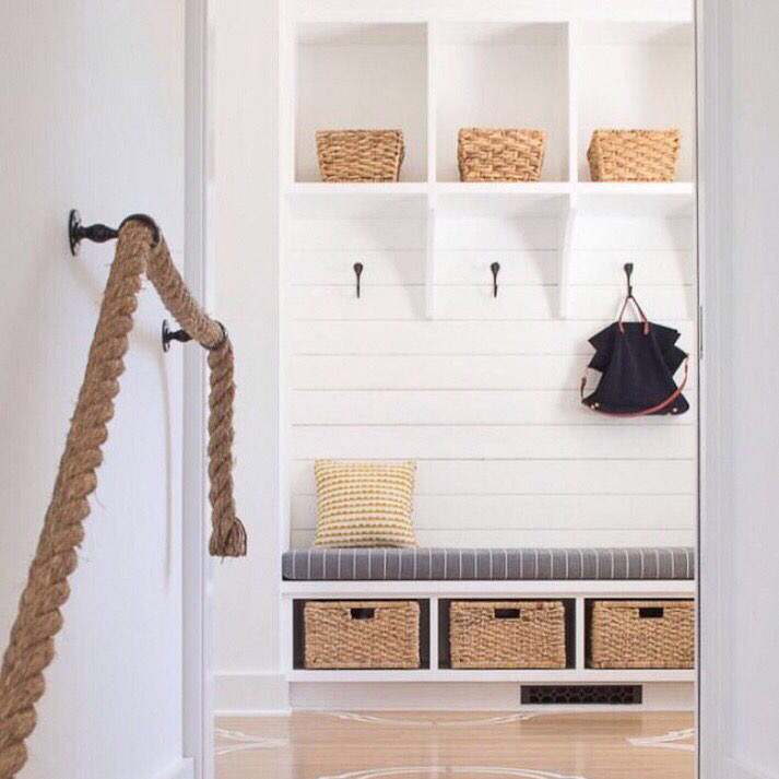 beautiful mudroom view