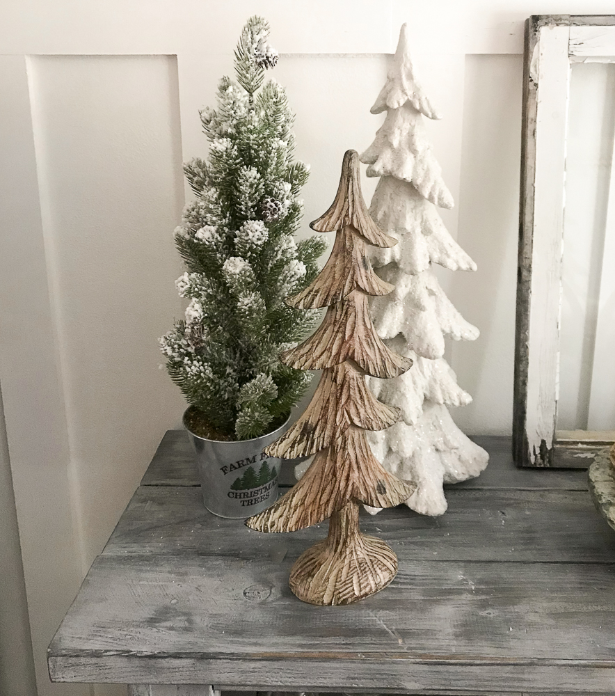 3 small christmas trees
