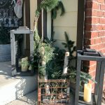 Christmas decor on the front porch