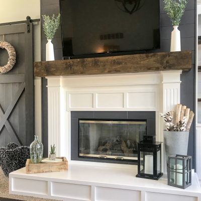 How to Build a Faux Wood Beam Mantel