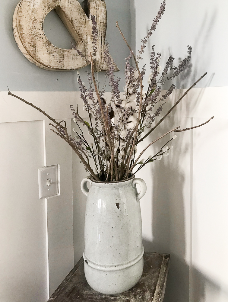 vase with russian sage