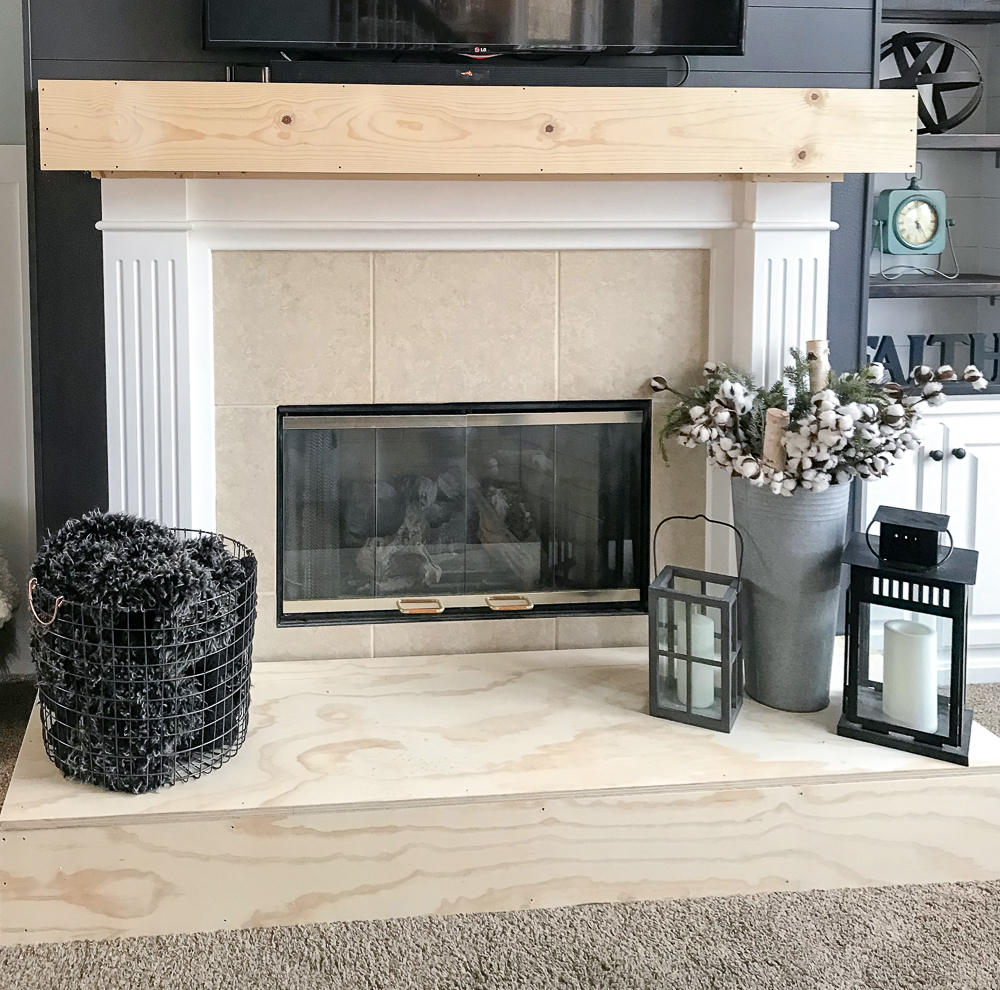 fireplace makeover with decor
