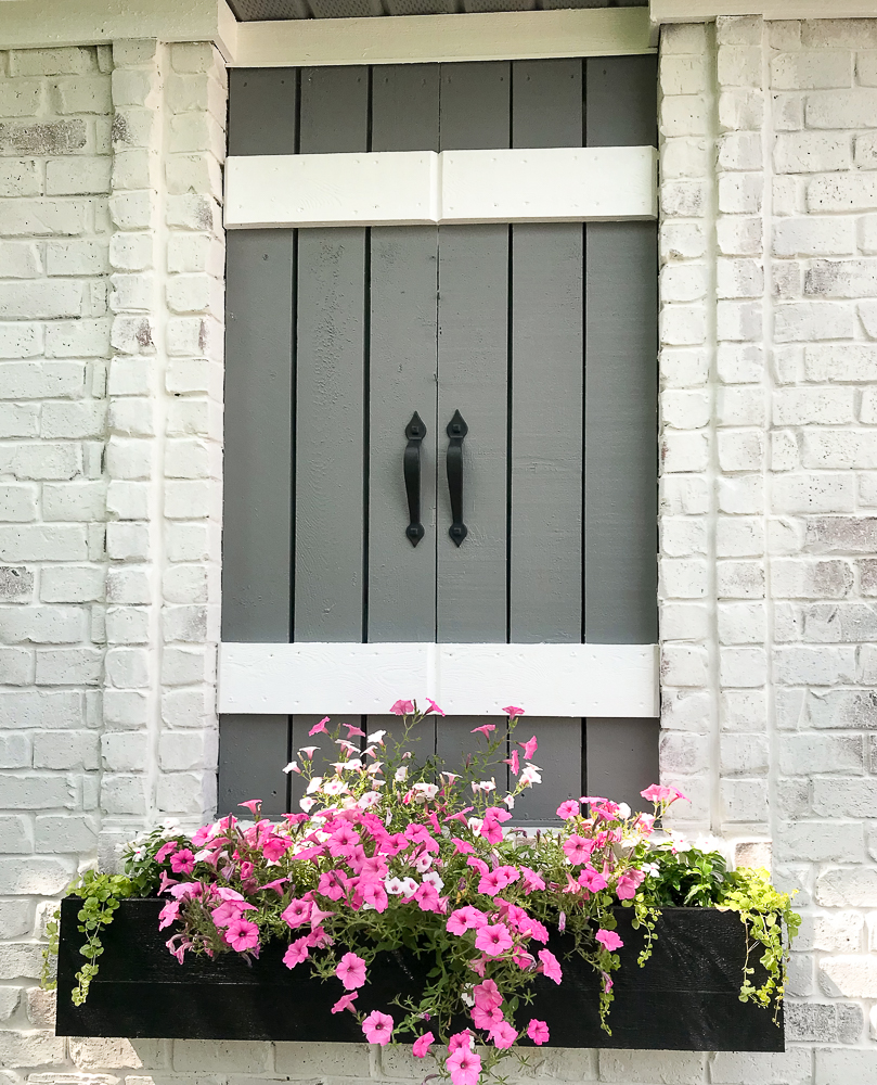 faux window with flower box