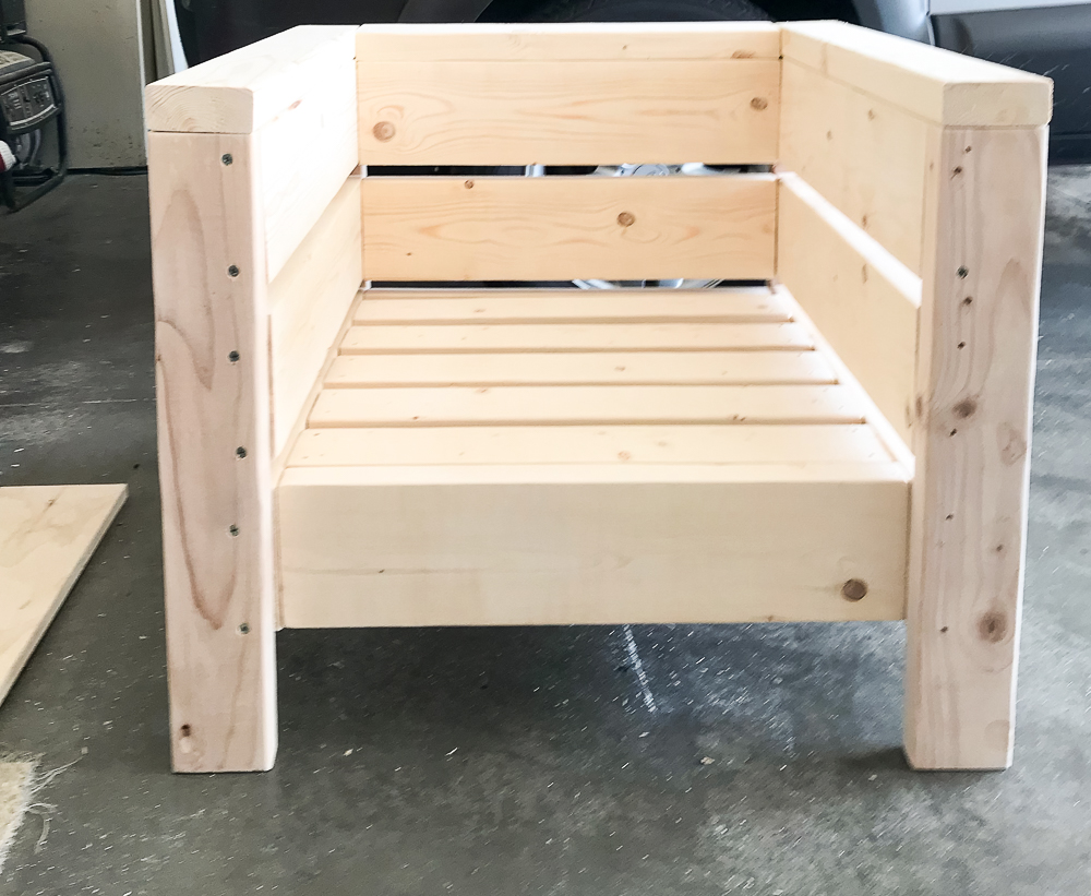 chair built out of 2x4's and 2x6's