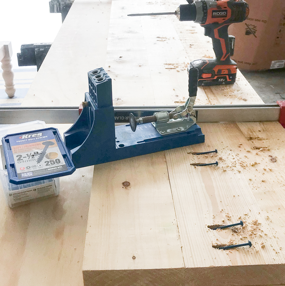 two tools: kreg jig and drill