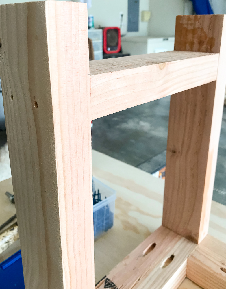 bench leg with expander added