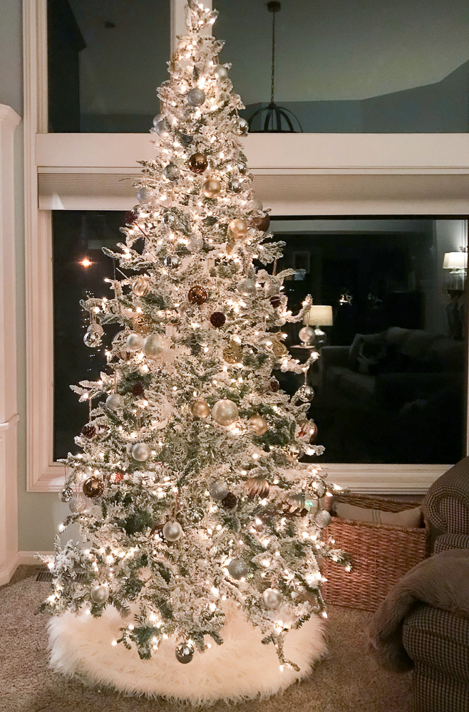 Christmas Tree with chair
