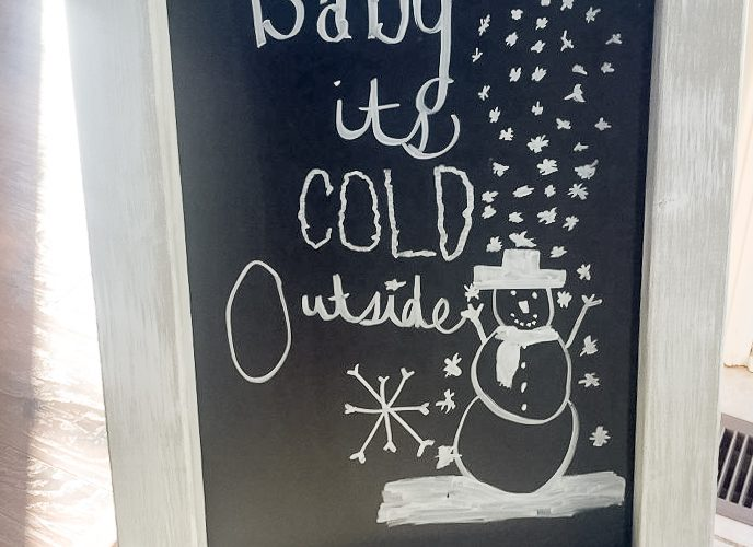 Easy How to Build an Easel Chalkboard