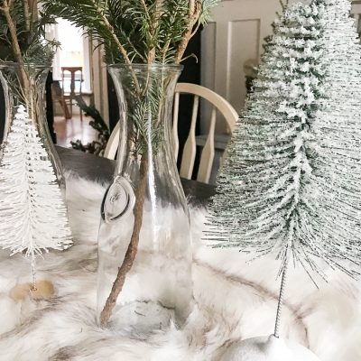 Christmas Tablescape the Modern Farmhouse Way