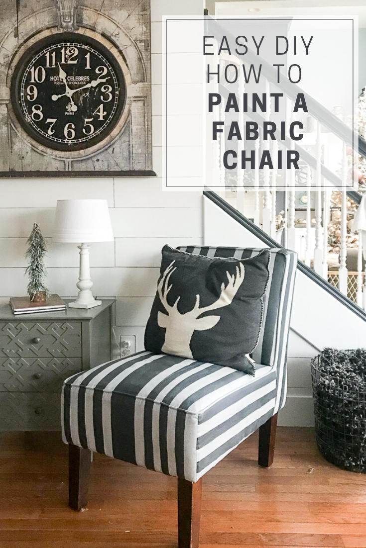 upholstery painted with chalk paint