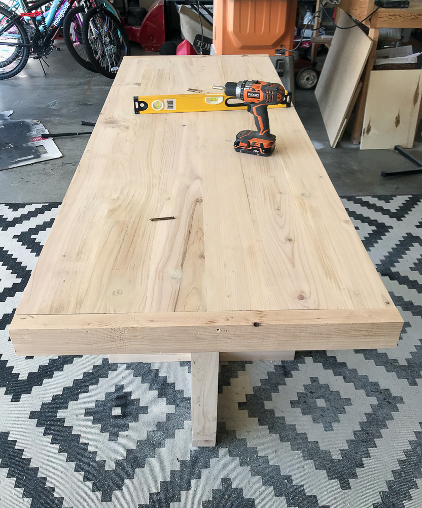 table top with apron