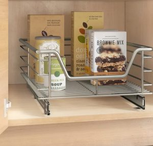 Pantry pull out drawer for space-saving storage