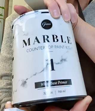 Can of marble countertops primer