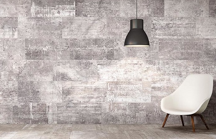 accent wall with urban style tile