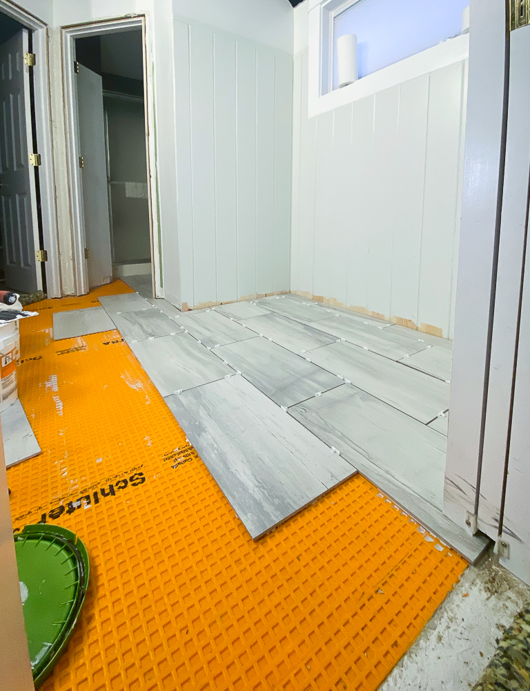 laying tile over ditra with spacers