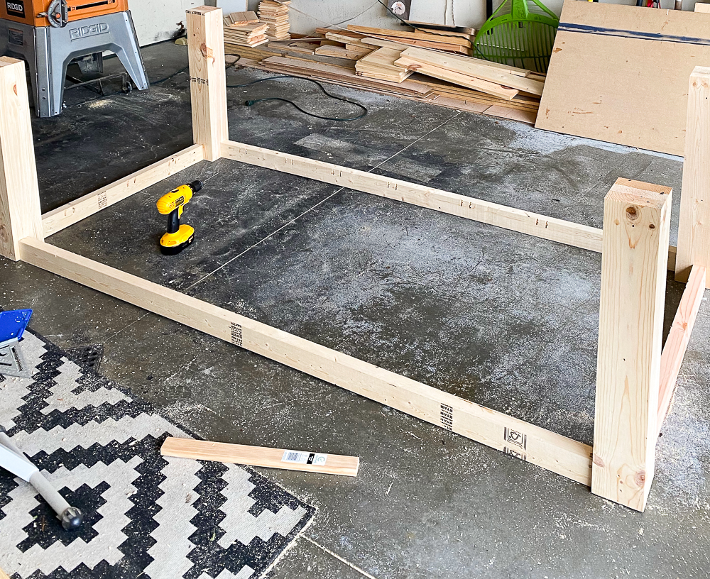 frame for table top