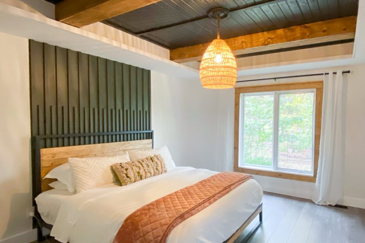 Easy How to DIY a Wood Planked Ceiling