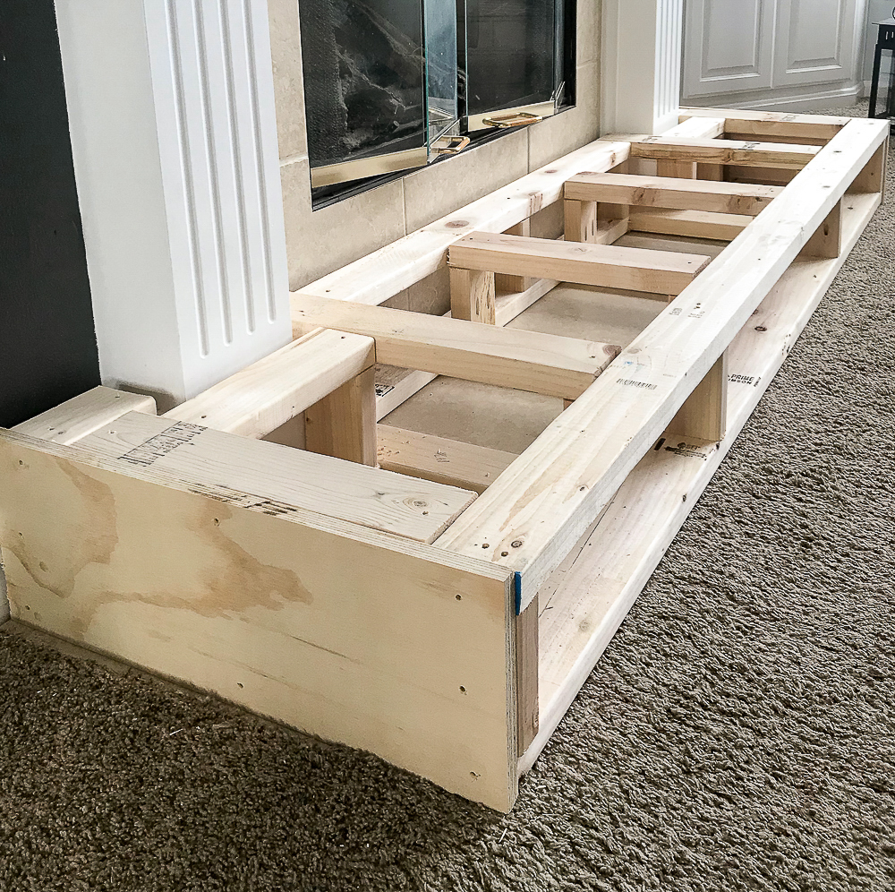 2x4's jigged together with plywood facing
