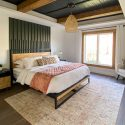 MCM master bedroom with nightstands