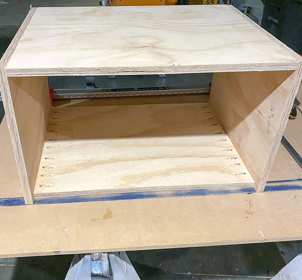 """Drawer box shell made of 3/4"""" plywood"""