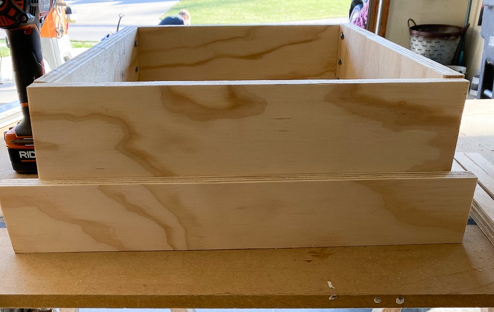Drawer box with 1x3 next to it