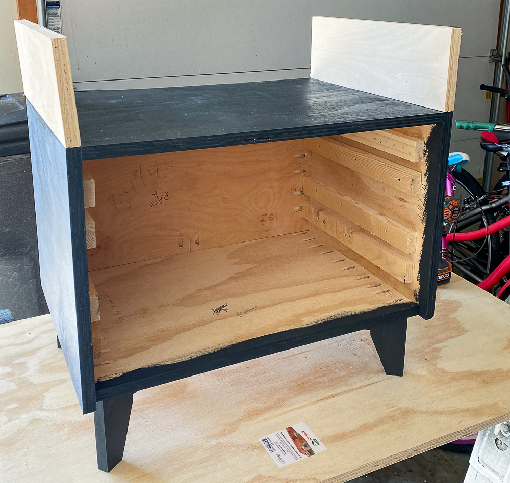 Nightstands with sides added for topper