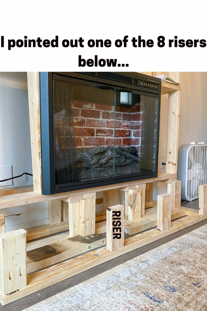 Risers for fireplace surround diy