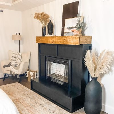 Easy How to Build a Fireplace Hearth and Mantel-Part 3