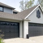 Carriage doors on a craftsman style home