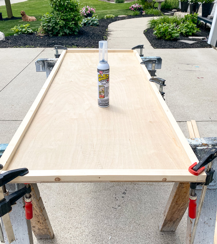 Underlayment for frame with 1x2's around the border