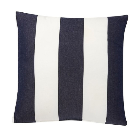 Outdoor pillow with Navy and white stripes