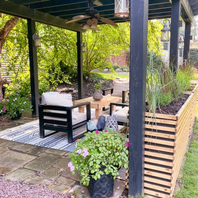 Backyard Patio Reveal-New Furniture and Planters