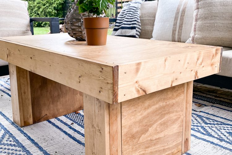 Easy DIY McGee & Co. Coffee Table Dupe