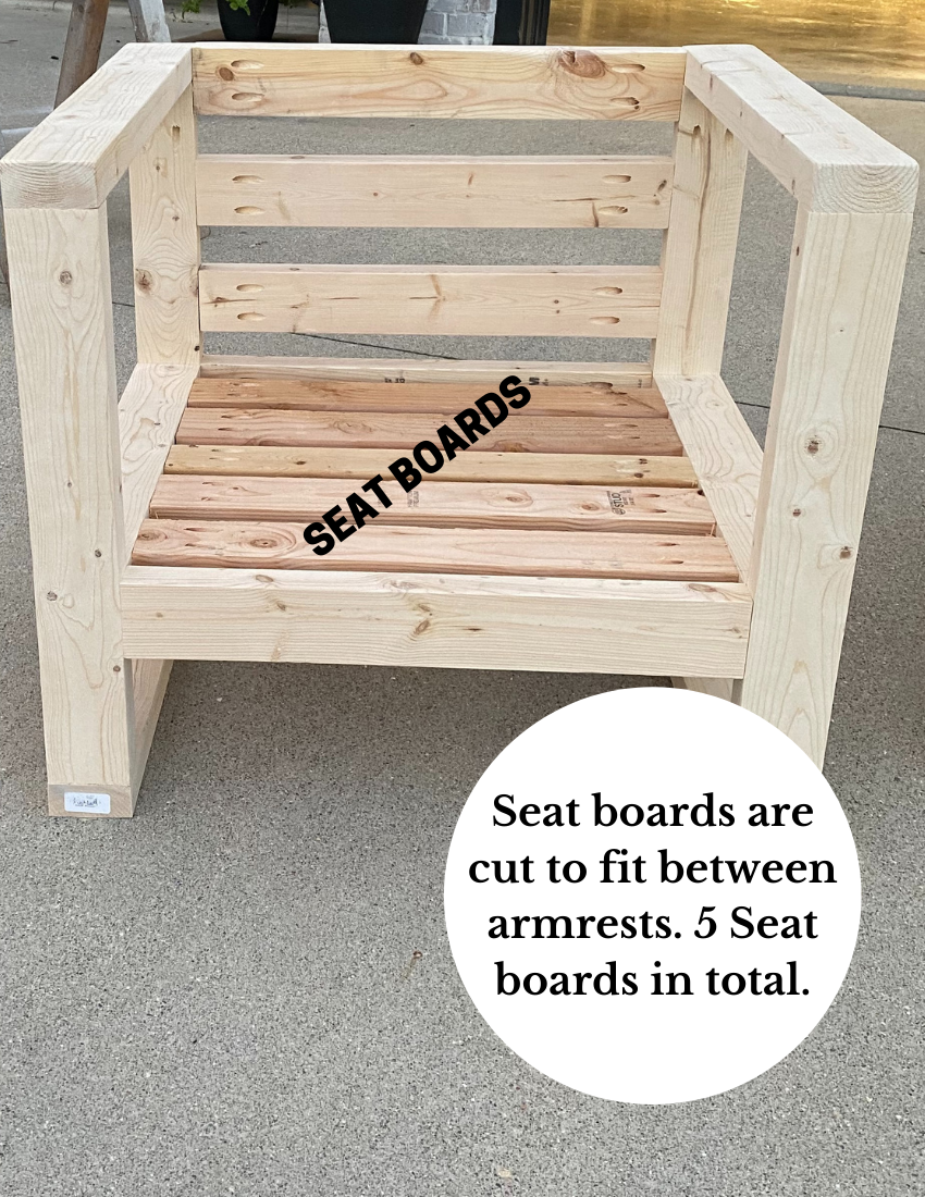 Seat boards for one of the outdoor chairs