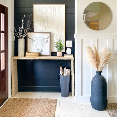 Easy How to Make a Console Table with Hemp Rope